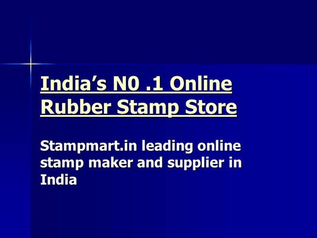 In Leading Online Stamp Maker And Supplier India