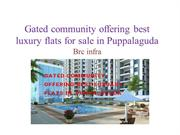 Gated community offering best luxury flats for sale in Puppalaguda