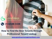 Tenant lookup in Orange County CA