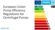European Union Pump Efficiency Regulations for Centrifugal Pumps
