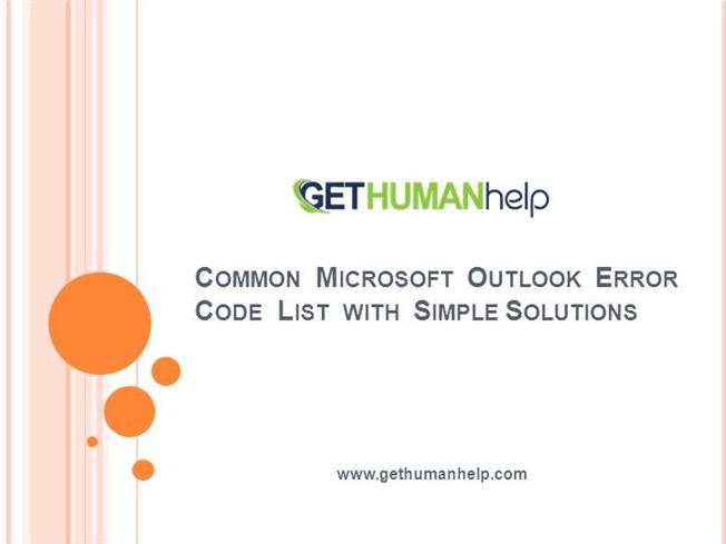 Common Microsoft Outlook Error Code List With Solutions