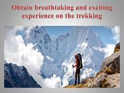 Obtain breathtaking and exciting experience on the trekking