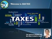 Get Tax returns online on Specialized Softwares- ABATax