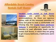 Affordable Beach Condos Rentals Gulf Shores