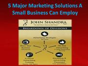 5 Major Marketing Solutions A Small Business Can Employ
