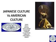 Japanese Culture Vs American Culture