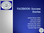 FACEBOOK- Success Stories