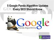 5 Google Panda Algorithm Updates Every SEO Should