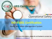 ISO 45001 Certification by URS India