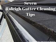 Seven Raleigh Gutter Cleaning Tips by Peak Pressure Washing