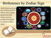 Birthstones by Zodiac Sign