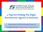 4 Tips For Picking The Right Recruitment Agency In Germany