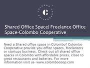 Shared Office Space | Freelance Office Space-Colombo Cooperative