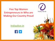 Businesswomens: Five Top Women Entrepreneurs in India- India Alive