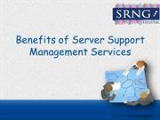 Benefits of Server Support Management Services
