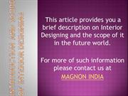 Introduction and Scope of Interior DESIGNING