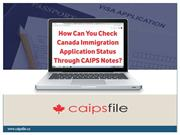 How Can You Check Canada Immigration Application Status