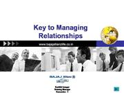 Key to Managing Relationship