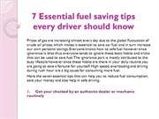 7 Essential fuel saving tips every driver shouldknow 1