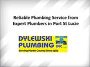 Reliable Plumbing Service from Expert Plumbers in Port St Lucie