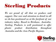 Sterling Products   Plastic Products   Advertising Signs