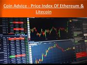 Coin Advice - Price Index Of Ethereum & Litecoin
