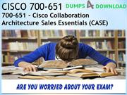 [Oct-2018 Dumps] Free 700-651 Dumps4Download Exam Dumps