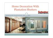 Home Decoration With Plantation Shutters pdf