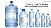 Things to Know For Buying Bottled Mineral Water Online - Monviso