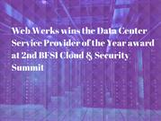 Web Werks wins the Data Center Service Provider of the Year award