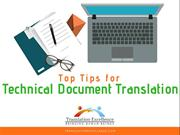 Top Tips for Technical Document Translation