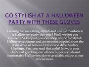 Go Stylish at a Halloween party with these