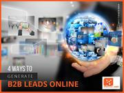 B2B Sales Lead Generation Companies - Tips to Generate Leads Online