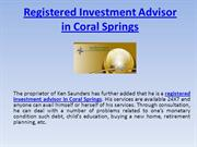 Registered Investment Advisor in Coral Springs