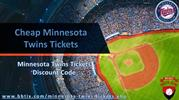 Minnesota Twins Tickets Discount Coupon