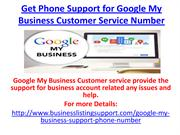 Get Phone Support for Google My Business Customer Service Number