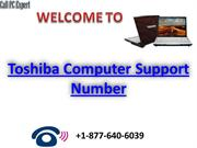 Toshiba-computer support number