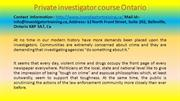 Private investigator course Ontario
