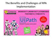 The Benefits and Challenges of RPA Implementation