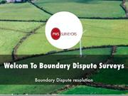 Boundary Dispute Surveys Presentations