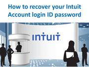 How to recover your Intuit Account login ID password