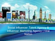 Social Influencer Talent Agency & Influencer Marketing Agency