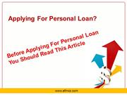 How To Get Personal loan Easily