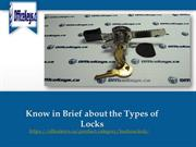 Know in Brief about the Types of Locks