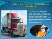 DOT Physical Exam Cover| Medical Exam in Charlotte, NC