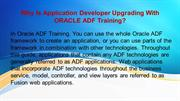Why Is Application Developer Upgrading With ORACLE ADF Training