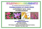 I. D. Pharm Pharmacognosyof crude drugs