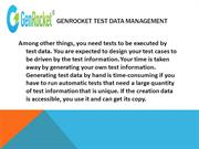 GenRocket Test Data Management