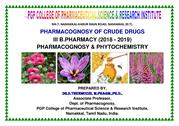 III B Pharm Ph.Cognosy of crude drugs