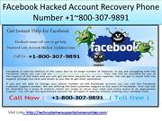FAcebook Hacked Account Recovery Phone Number +1800-307-9891